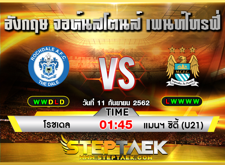 ทีเด็ดบอล-Steptaek19-Rochdale vs Manchester City